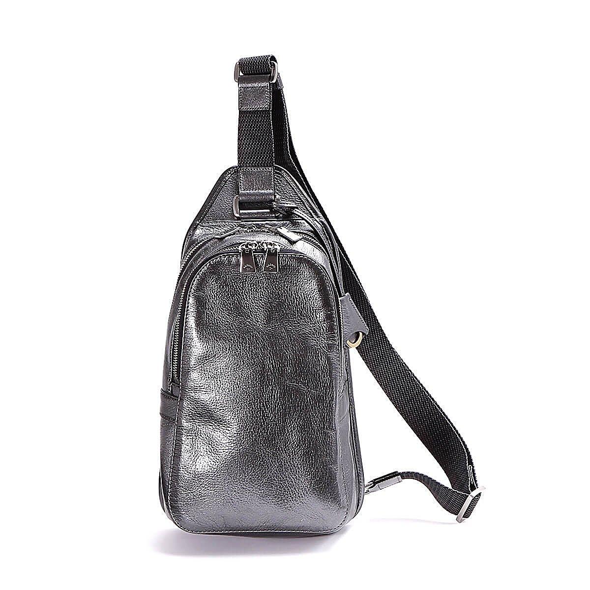 アニアリ ボディバッグ 2 Antique Leather 01-07004 B0713S8DPJ SteelBlack SteelBlack