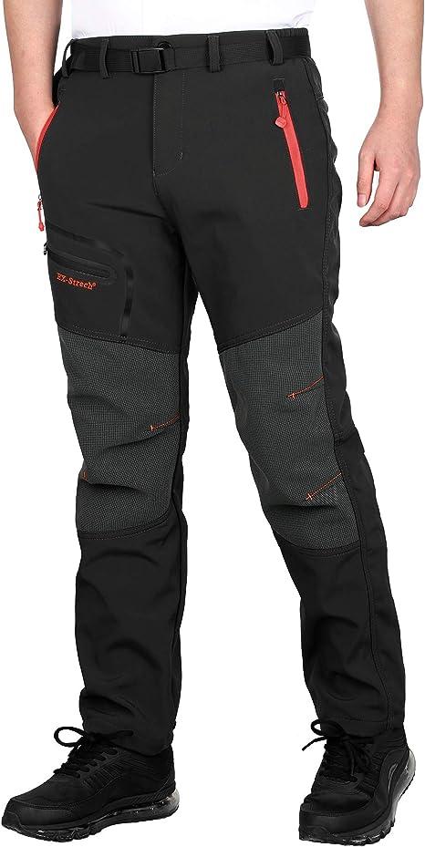 Men/'s Winter Hiking Sport Pants Fur Lined Warm Outdoor Camping Trekking Trousers