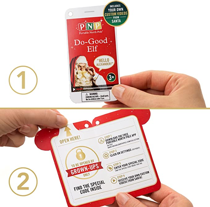 Passport /& Stickers with 4 Videos from Santa Red PNP Posable Do-Good Elf