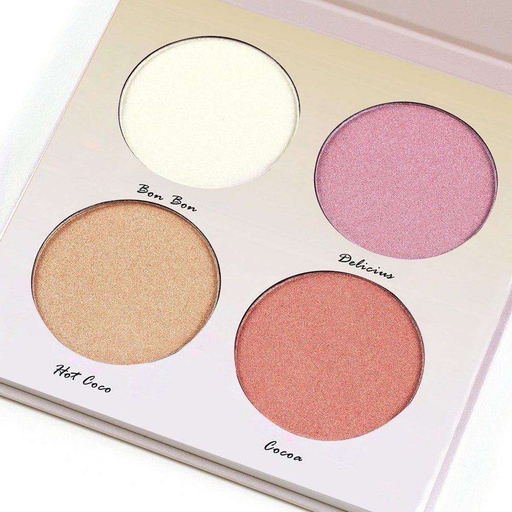 Kaidifangte Go Glow 4 Color Illuminator Kit Light Highlighter & Bronzer Shimmer Matte Palette
