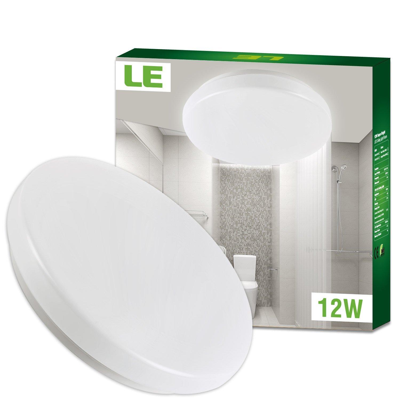 le plafonnier led 12w lampe de plafond impermable ip44 equivalent ampoule incandescente 100w - Plafonnier Salle De Bain Lumiere Du Jour
