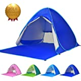 Elover Outdoor Automatic Pop Up Beach Tent Sun Shelter Portable 2-3 Person Family Cabana Anti UV Sets up in Seconds