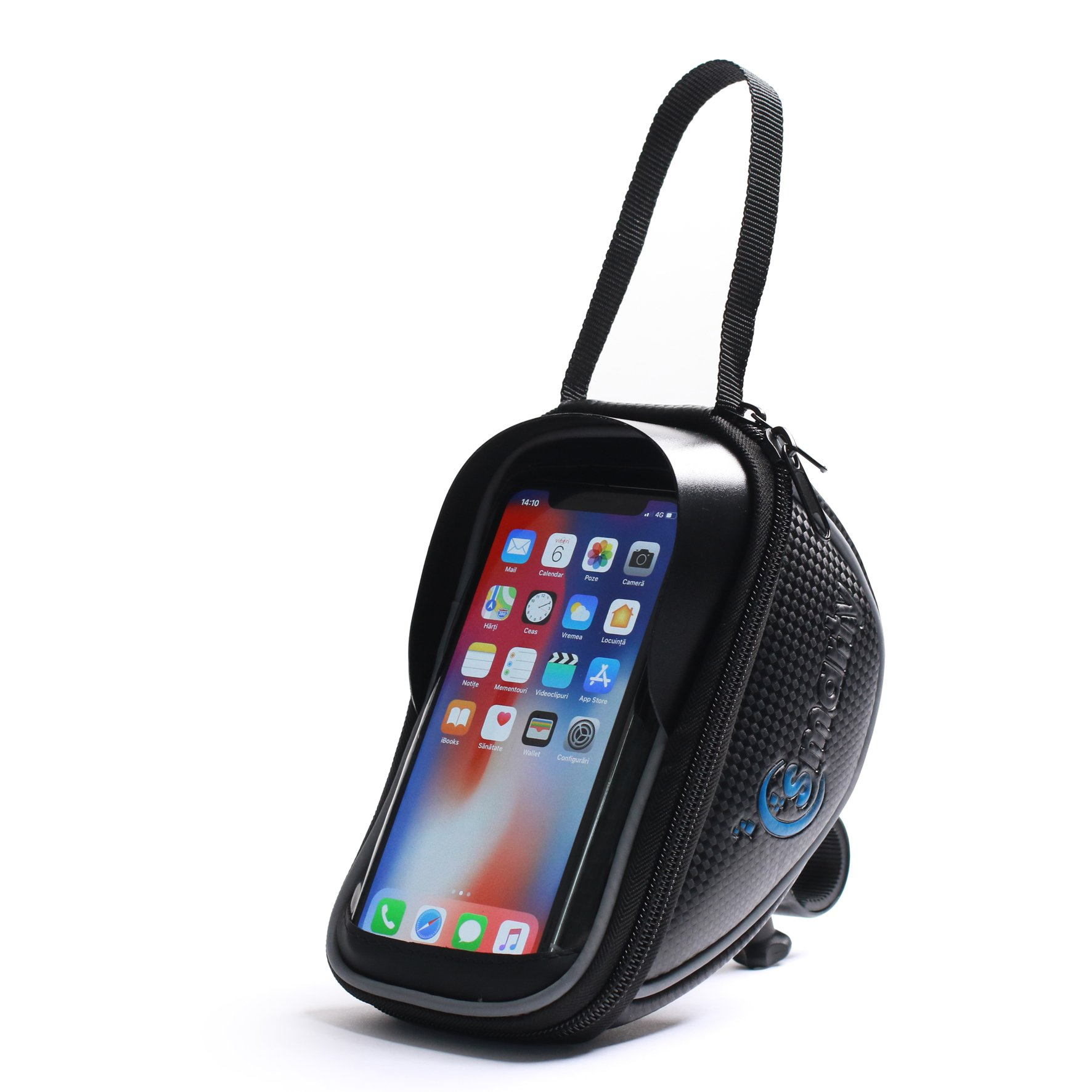 Bike Phone Bag - waterproof Cell Phone Case - Easy Release and Take Away Fastening System - All Types of Bicycle Handlebars - Touch Screen Sensitive - Pouch for all Mobiles Below 6.0 Inch