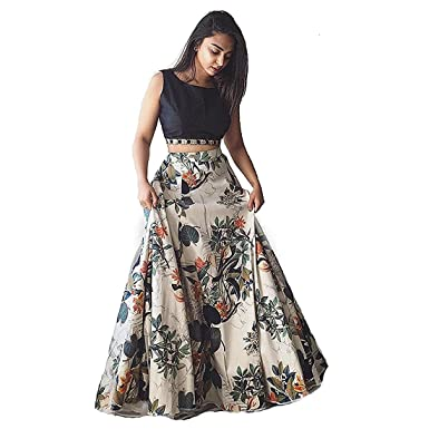82bf45bf6 Snapdeal Women s Silk Lehenga Choli (BL-32 Black Cream Free Size)   Amazon.in  Clothing   Accessories