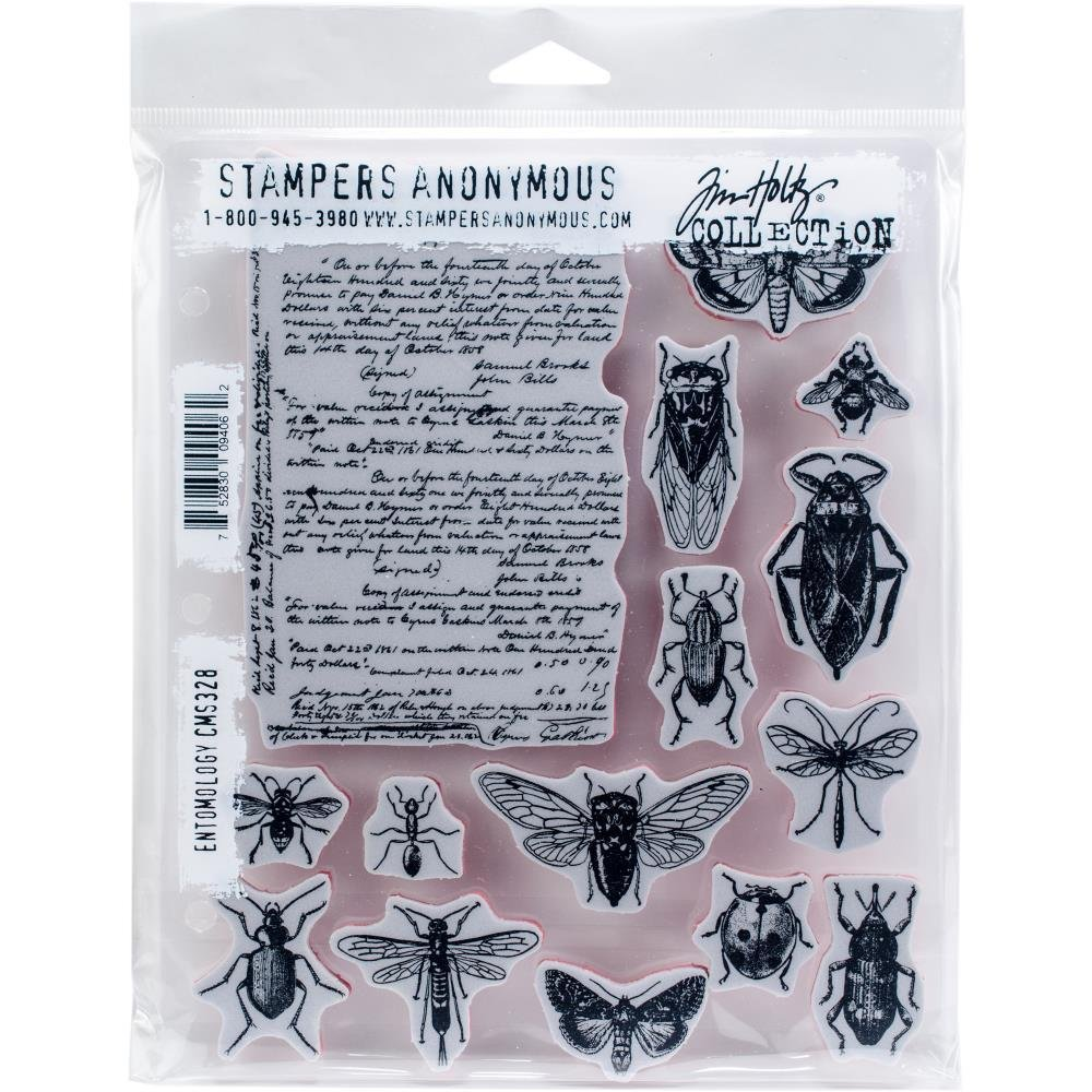 Tim Holtz Cling Rubber Stamps   Entomology Cms328 by Amazon