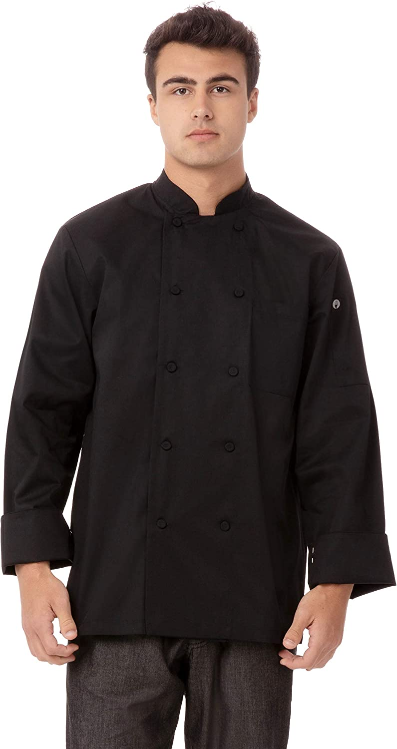 Chef Works Men's Calgary Cool Vent Basic Chef Coat