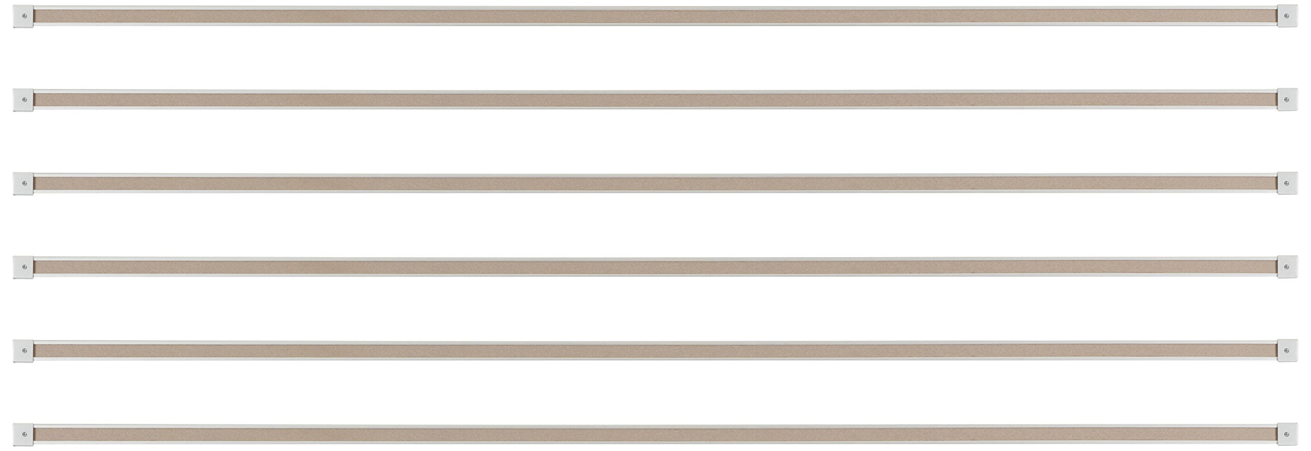 Best-Rite 1-Inch Map Rail, 6-Feet, Set of 6 (522G) by Best-Rite