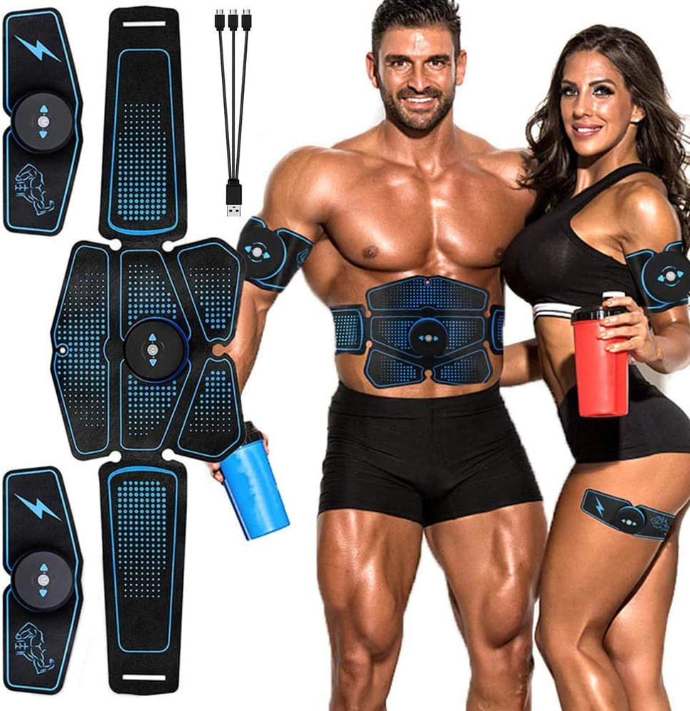 EMS Abdominal Arm Muscle Trainer Stimulator Fat Burning Pad Toning Belt Exercise