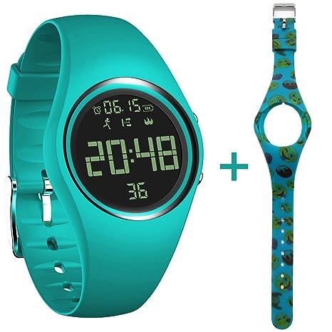 feifuns - Reloj Inteligente con Podómetro para Niños, no Bluetooth IP68, Resistente al Agua