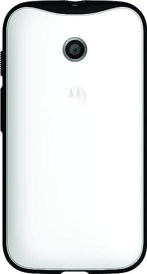 Lenovo Motorola - Carcasa de TPU para Moto E Blanco/Negro: Amazon ...