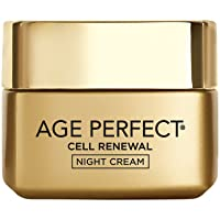 Face Moisturizer, L'Oreal Paris Age Perfect Cell Renewal Skin Renewing Night Cream Moisturizer with Salicylic Acid, Stimulates Surface Cell Turnover for Visibly Radiant Skin, 1.7 oz.