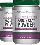 Piping Rock Kaolin Clay Powder 100% Pure White 2 Bottles x 12.3 oz (350 Grams)