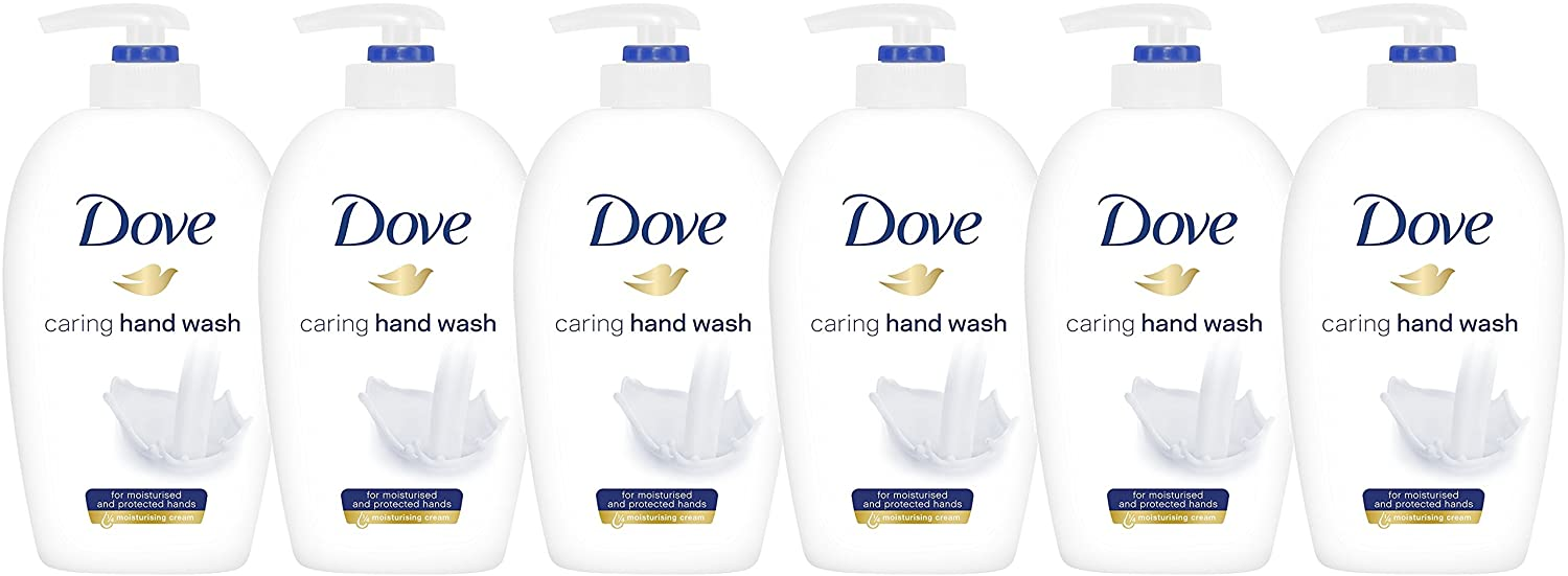 Amazon.com : Dove Caring Hand Wash, Original, 250 Ml / 8.45 Ounce (Pack of 6), White : Beauty