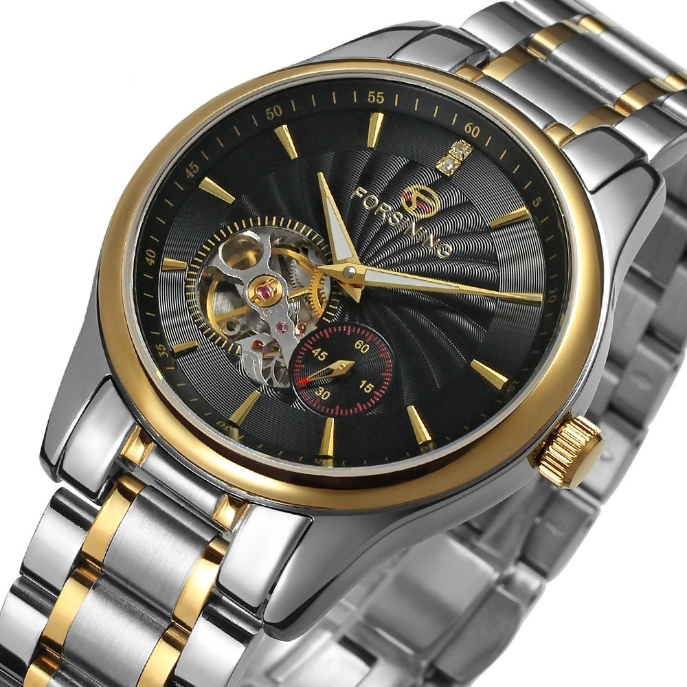 Amazon.com: Forsining Men Automatic Stainless Steel Wrist Watch FSG9406M4T3: Watches