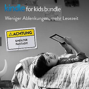 Kindle for Kids Bundle mit dem neuesten Kindle eReader, 2 Jahren Extragarantie mit Unfallschutz und kindgerechter, blauer Hül