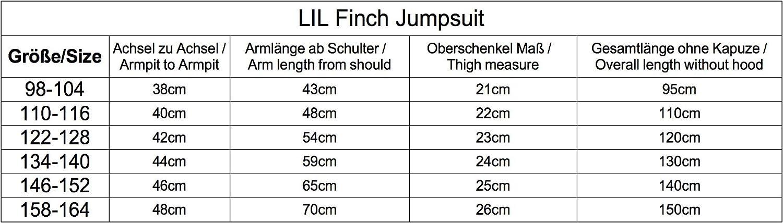 LILFinch LFV2 Enfants Unisexe Enfants Filles Gar/çons Plaine Couleur Polaire /À Capuche Tout en Une Combinaison Onesie