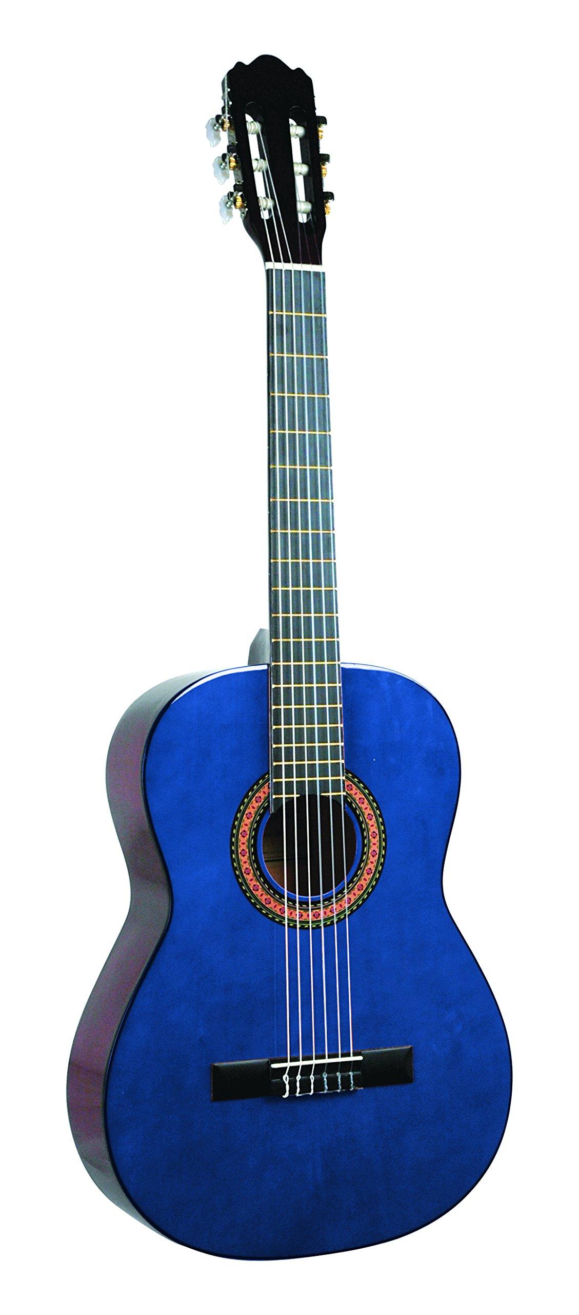 Lucida LG-400-BL Student Classical Guitar, Blue