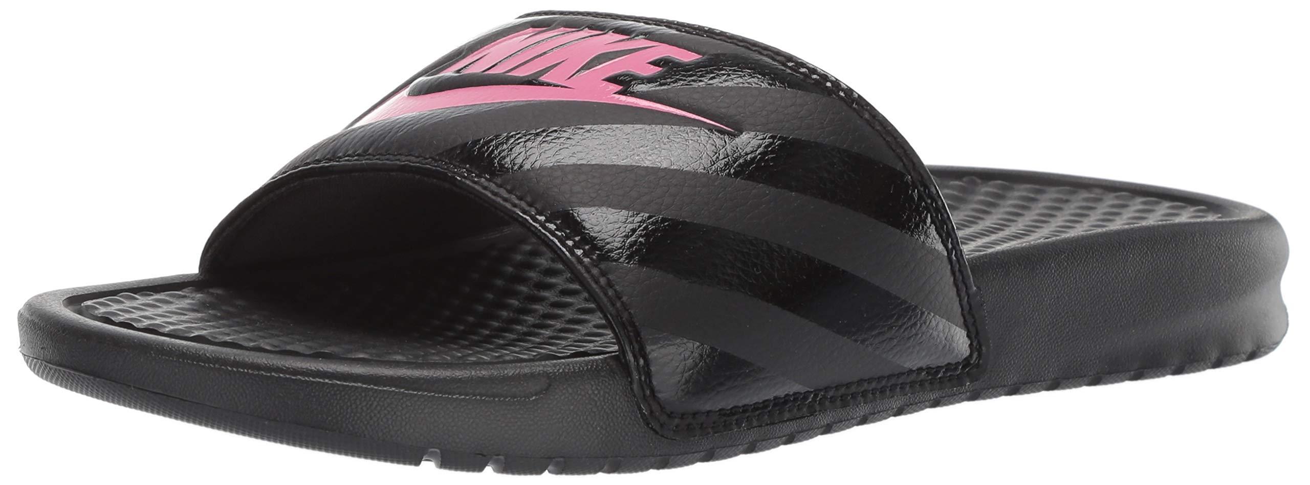 c455cb50c3588 Galleon - Nike Women s Benassi Just Do It Sandal Vivid Pink-Black