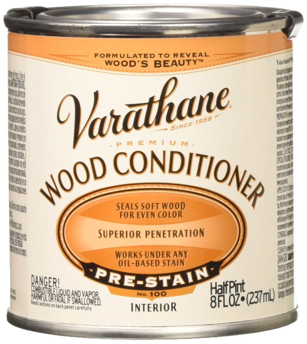 RUST-OLEUM 211776 Oil-Based Wood Conditioner, 1/2-Pint, Clear