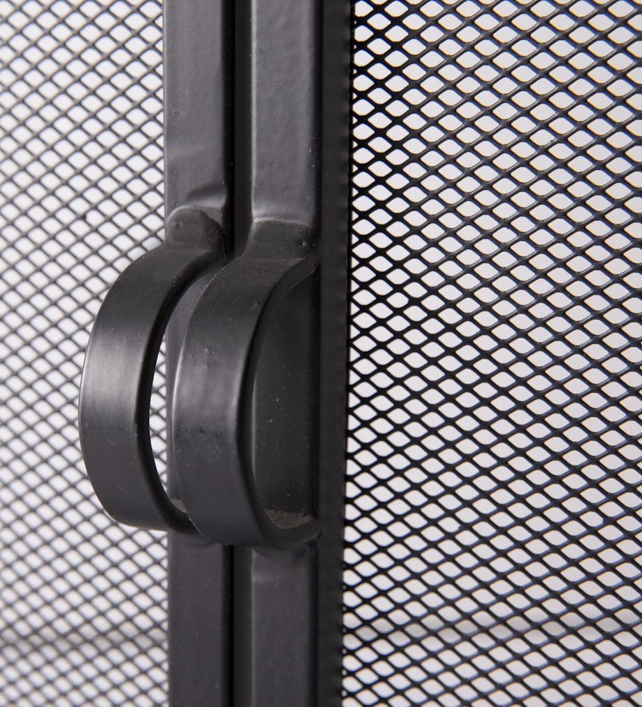 amazon com large fireplace screen with hinged magnetic doors