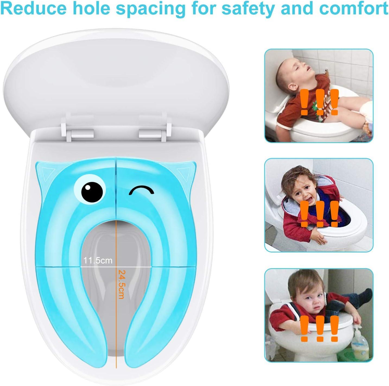 abattant de WC transportable/// de voyage Jerrybox Rehausse de cuvette de toilettes pliable pour enfant//b/éb/é pot pour jeune enfant avec sac de rangement