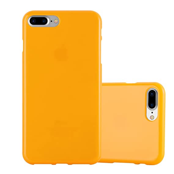 the best attitude d7896 3055b Cadorabo Case Works with Apple iPhone 8 Plus/iPhone 7 Plus/iPhone 7S Plus  in Jelly Yellow – Shockproof and Scratch Resistant TPU Silicone Cover – ...