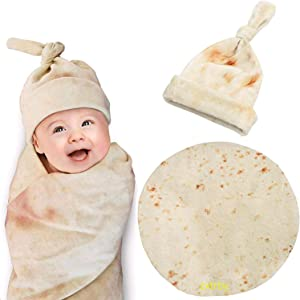 zxtrby Burrito Swaddle Blanket for Baby, Original Newborn Tortilla Swaddle Blanket .Baby Wrap Blanket Headband Set - Unisex Soft Baby/Kids Girl Boy Gifts ( 36Inch – 3ft )