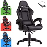 Advwin Gaming Chair Racing Style, Ergonomic Design Reclining Executive Computer Office Chair, Relieve Fatigue (Black)