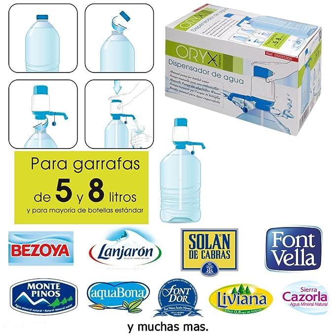 ORYX Dispensador de Agua para Garrafas y Botellas, Blanco/Azul, 19x10x11 cm: Amazon.es: Hogar