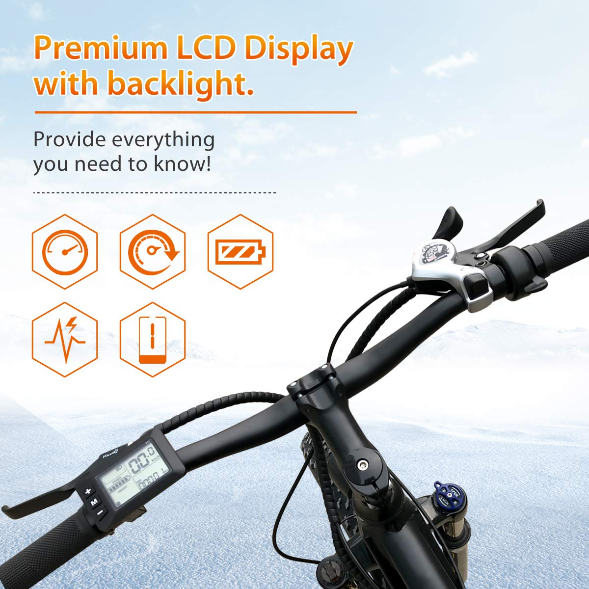 VTUVIA 26 Fat Tire 500W Electric Bike with 48V 12Ah Removable Lithium-Ion Battery Waterproof City Bicycle Mountain E-Bike for Sport Riding