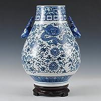 Loopsd Porcelana antigüedades jarrón de porcelana azul