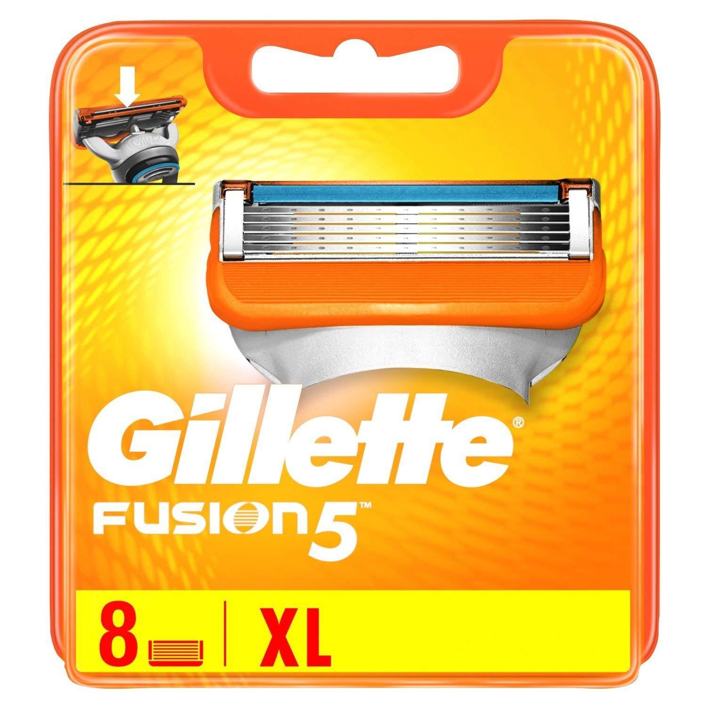 Gillette Fusion Proglide Manual Razor Blades Pack Of 8 Dermatologically Tested