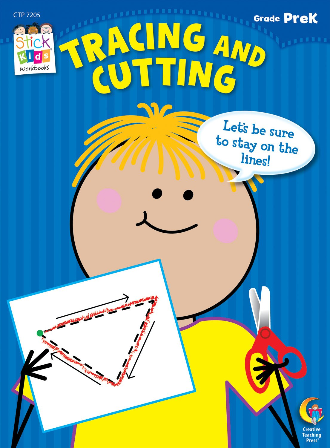 Workbooks prek workbooks : Tracing and Cutting Stick Kids Workbook, Grade PreK (Stick Kids ...