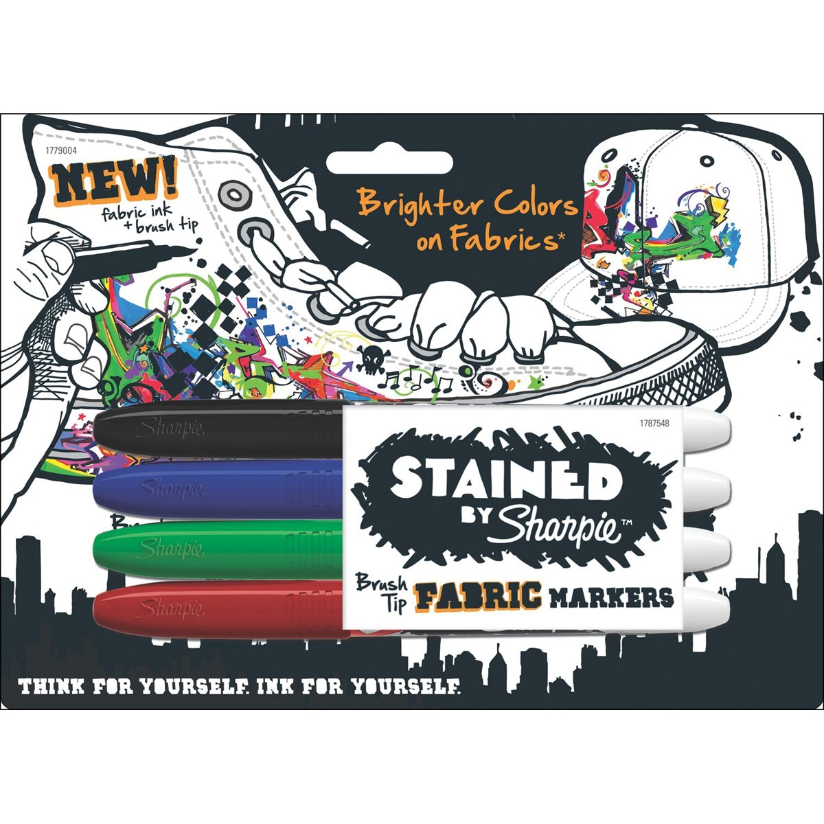 Amazon stained by sharpie brush tip fabric markers 4 colored amazon stained by sharpie brush tip fabric markers 4 colored markers 1779004 office products nvjuhfo Gallery