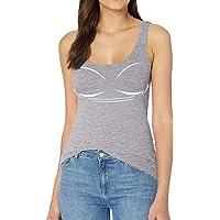 Mujer Camisetas con Sujetador Camisetas sin Mangas para Mujer Camisetas Tirantes con Sujetador Casual Wear S-2XL