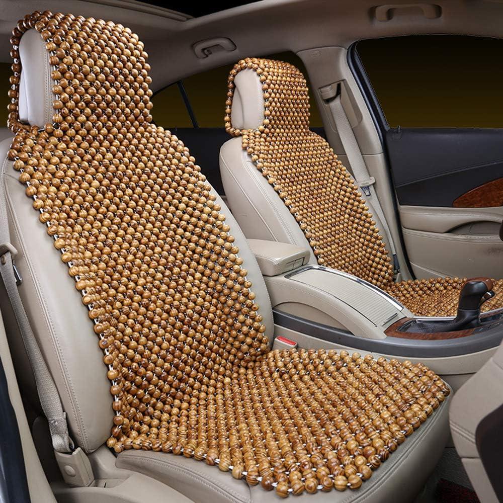 DASS das Kissen und das Ges/ä/ß w/ährend der Fahrt ins Schwitzen geraten geeignet f/ür Mercedes-Benz BMW FIAT Verhindert N//A Nat/ürliches handgefertigtes Holzperlen-Autositzbezug Cooles Kissen