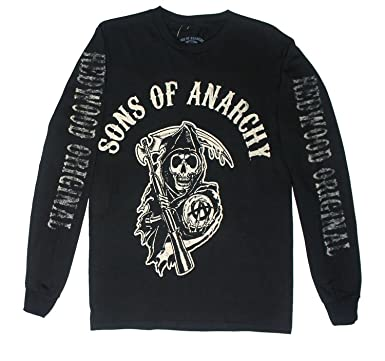 60849467 Amazon.com: Sons of Anarchy Fear The Reaper Mens Long Sleeve Black T ...
