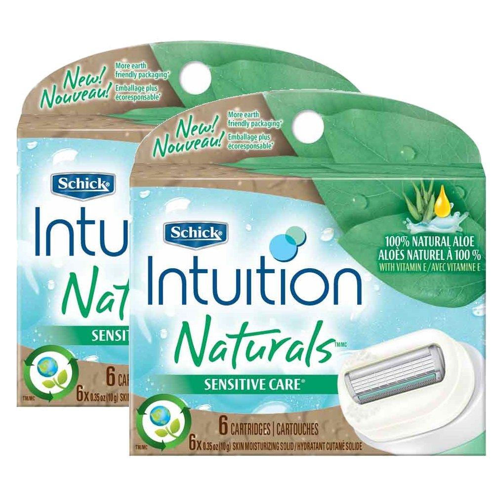 Schick Intuition Naturals Sensitive Care Razor Refill - 12-Count