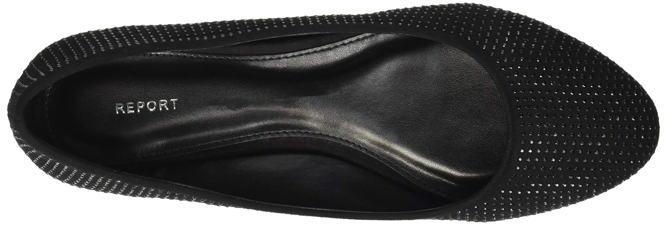 Report Women's Keela Ballet Flat, Black Fox Suede, 9 M US by Report (Image #7)