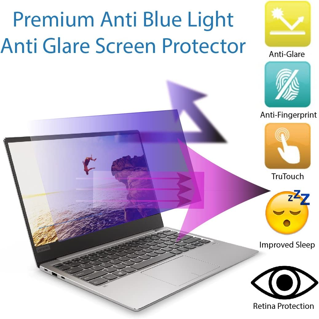 Premium Anti Blue Light and Anti Glare Screen Protector (2 Pack) for 15.6 inches Laptop with Aspect Ratio 16:9. Easy and Bubble Free Installation