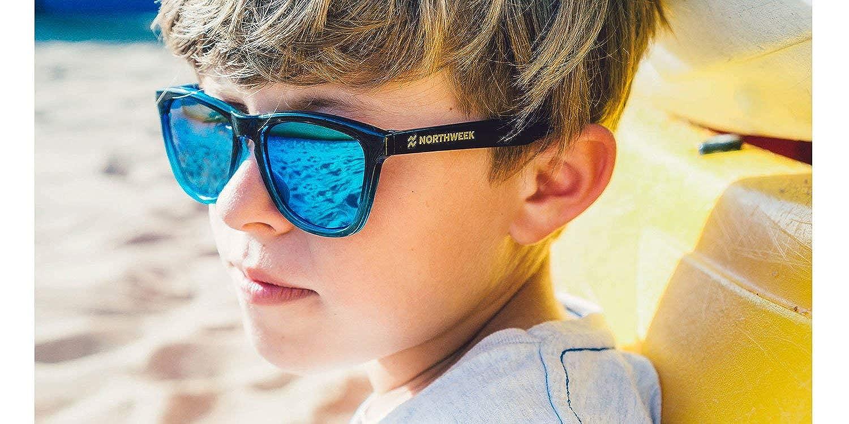 NORTHWEEK Kids Patrol Gafas de Sol, Blue, 140 Unisex-niños