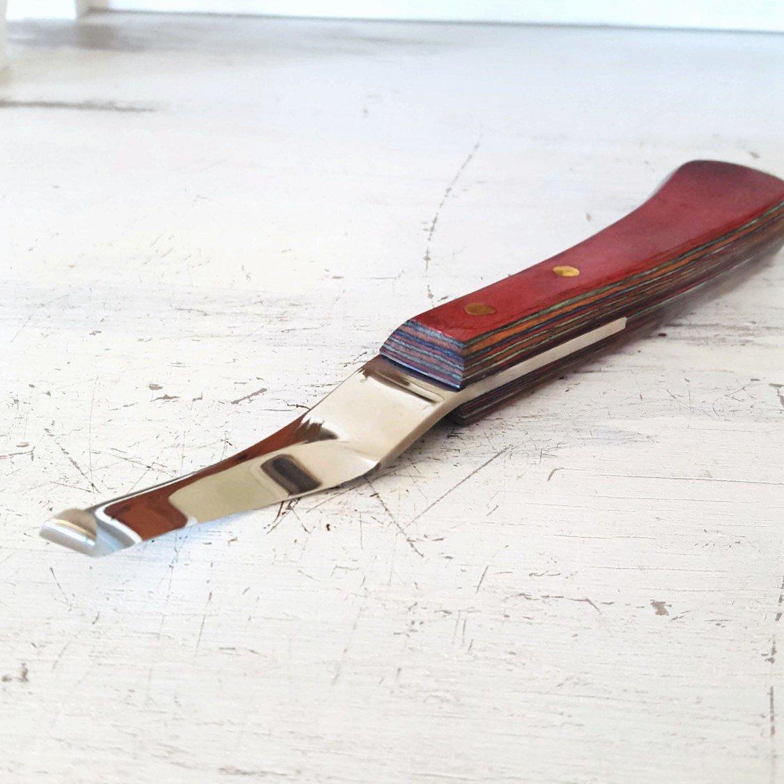 右利きCurved Blade HoofナイフW / LIFETIME handle- The Heritage Forge B076V12K8X