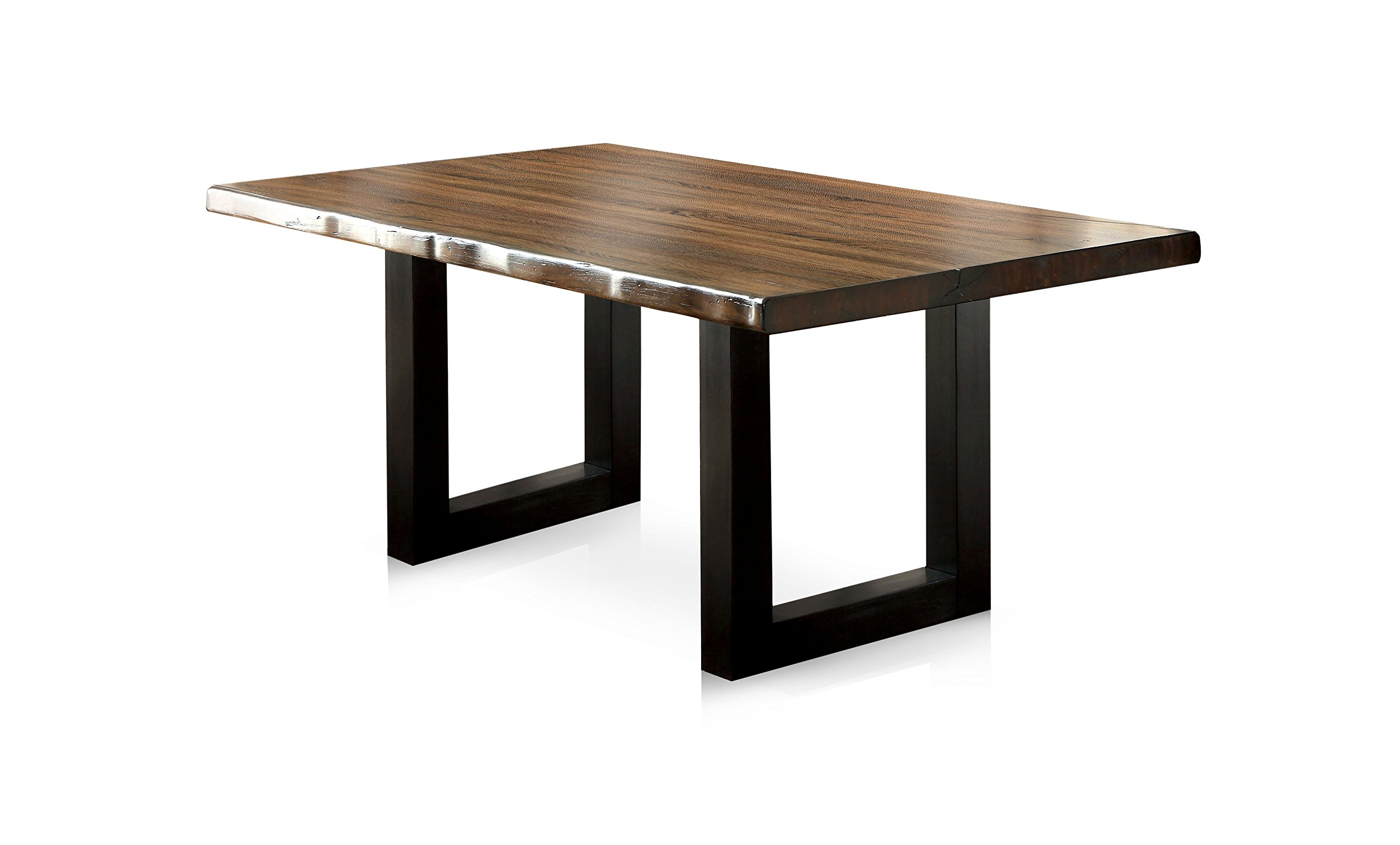 HOMES: Inside + Out Tobacco Oak Durrett Contemporary Dining Table by HOMES: Inside + Out