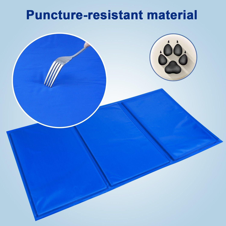 BIGWING Style-Manta Refrigerante para Mascota Perro Gato Humano Alfombrilla Refrescante Impermeable Plegable Anti-suciedad Multi-uso 21,70 x 39,10 Pulgada: ...