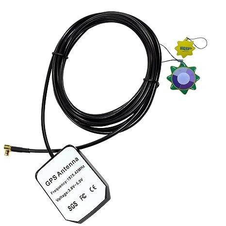 HQRP Antena externa GPS amplificada 1575.42 MHz de montaje magnético para GPSMAP 76 CS (010