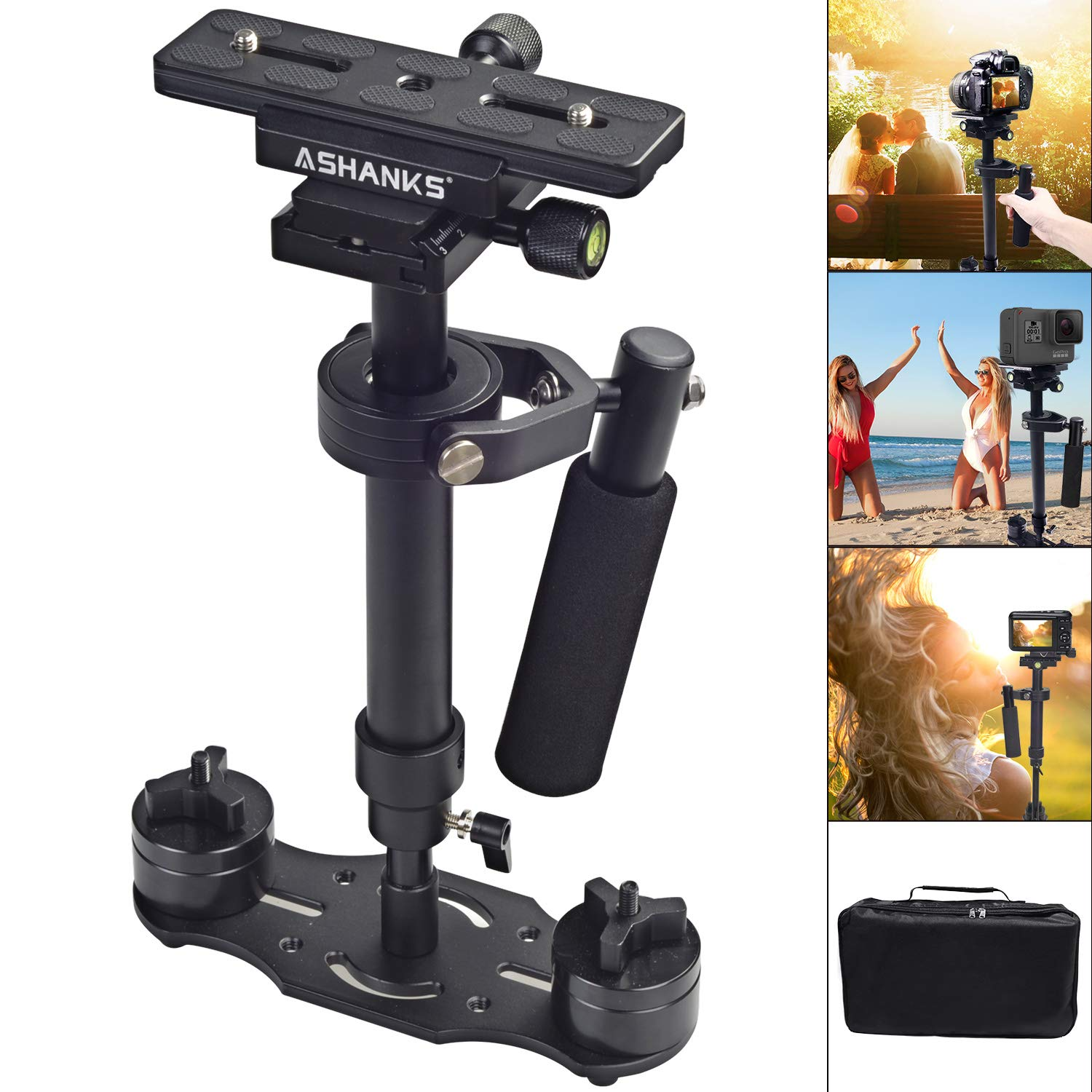 ASHANKS S40 15.8'/40CM Handheld Stabilizer Camera Stabilizer For DSLR Stedicam Canon Nikon GoPro AEE Video Camera by ASHANKS