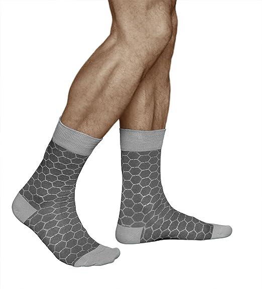 vitsocks Calcetines Fantasia Hombre Diseño Original Panal de Abeja ALGODÓN DE CALIDAD, Joy: Amazon.es: Ropa y accesorios