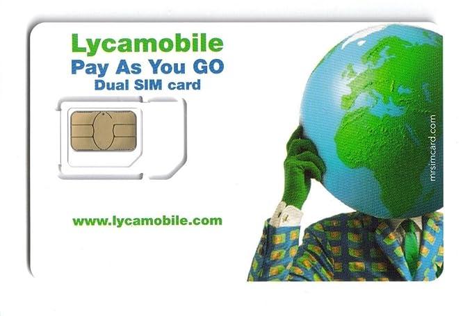 2 x Lyca mobile-micro/tarjeta SIM estándar Reino Unido solo los ...