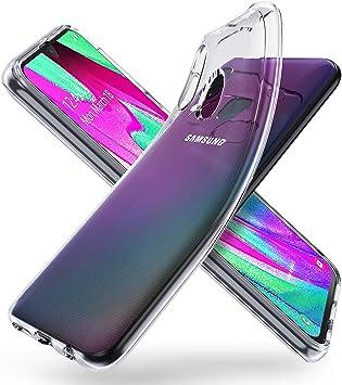 deconext Transparente Funda Samsung A40, Carcasa Suave TPU Gel ...