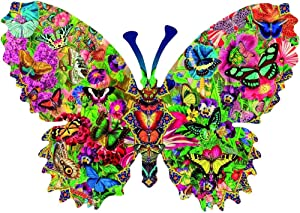 ZWWCJ 1000 Piece Jigsaw Puzzle for Adults and Kids Butterfly Themes Puzzle Sets for Family, Cardboard Puzzles, Educational Games, Brain Challenge Puzzle for Kids Childrens